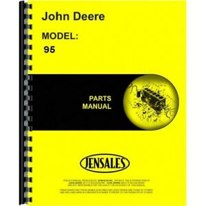 John Deere 95 Self Propelled Combine Parts Manual Catalog Pc656 Sn 959001 Up