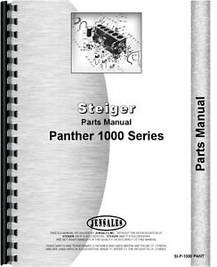 Steiger Panther 1000 Tractor Parts Manual Catalog