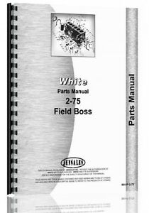 White 2 75 Diesel Tractor Parts Manual Catalog