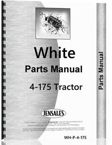 White 4 175 Tractor Parts Manual Catalog