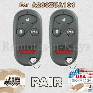 2x Car Alarm Remote Key For 1996 1997 1998 1999 2000 2001 2002 Honda Accord 101