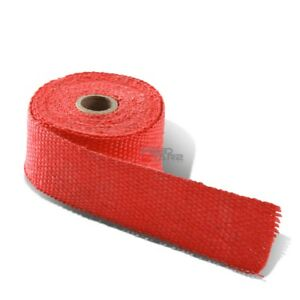 15ft 180 L 2 W Header Exhaust Turbo Intake Manifold Pipe Red Heat Wrap Tape
