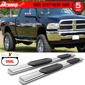 Fits 09 19 Dodge Ram 2500 3500 Crew Cab 5 In Side Step Bar Running Boards 2pc