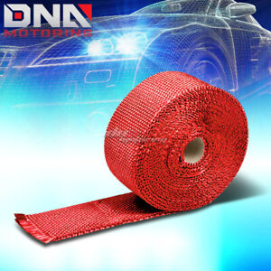 Exhaust Header Turbo Manifold Down Pipe Racing Red Heat Wrap 2 X 1 16 X 25