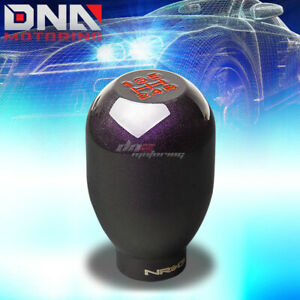Nrg Anodized Type r Style M10x1 5 Weighted 5speed Gear Shifter Shift Knob Purple