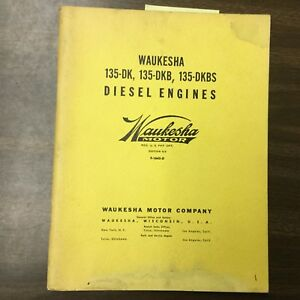 Waukesha 135 dk Dkb Dkbs Engine Parts Manual Book Catalog Diesel F 1645 d Guide