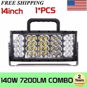 1x 14inch 140w Square Work Light Combo Led Construction Worksite Outdoor Indoor