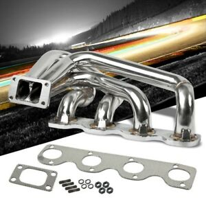 Race Ss Chrome T3 Flange Turbo Manifold For 68 71 Bmw 1800 I4 M10