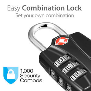Zinc Alloy Lock Padlock For Gym Sports Locker Fence Hasp Cabinet Travel Usa