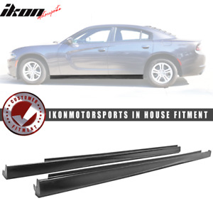 Fits 11 18 Dodge Charger Side Skirts Pair Left Right Unpainted Pu