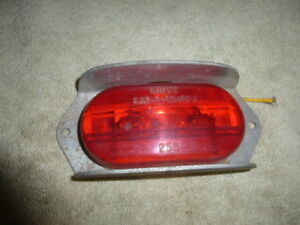 Grote Vintage Trailer Side Marker Clearance Light Housing Red 258 Sae P P2 Pc 1