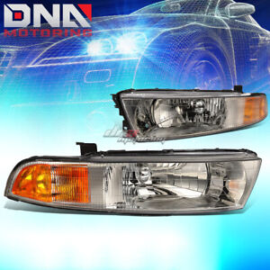 For 99 03 Mitsubishi Galant Chrome Housing Amber Corner Headlight Oe Replacement