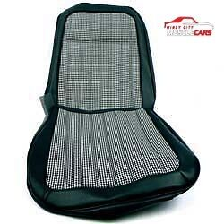 1969 Chevrolet Camaro Deluxe Black Houndstooth Bucket Seat Covers Pair Set 2