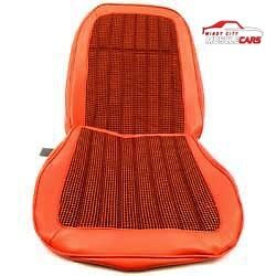 1969 Camaro Deluxe Hugger Orange Houndstooth Bucket Seat Covers Pair Set 2