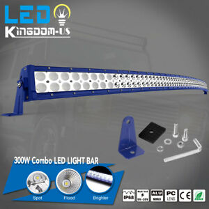 52 Inch 300w Led Curved Work Light Bar Flood Spot Combo Offroad Suv Atv For Jeep