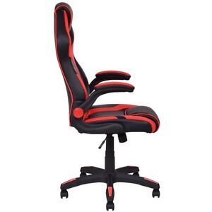 Modern Executive High Back Race Car Soft Pu Leather Seat Chair Office Gaming Hot