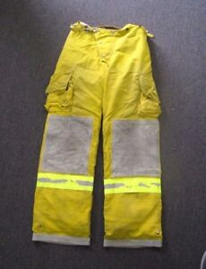 Cairns Turnout Gear Fire Fighter Bunker Padded Pants 36 In Waist 48 Tall Costume