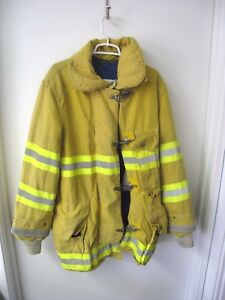 Cairns Explorer Firefighter Yellow Jacket Coat Turnout 44x36 Halloween Costume