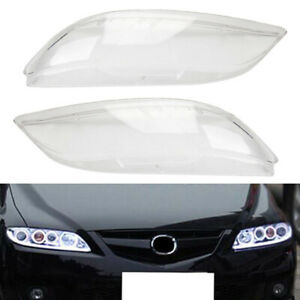 Replacement Headlight Headlamp Plastic Clear Lens Cover For Mazda 6 2003 2008