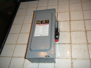 Square D H321nrb 30 Amp 240v Fusible 3 Ph Ac dc Safety Switch Disconnect No Cap