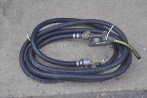 Petroleum Fuel Dispensing Collapsible Hose W Nozzle 26ft New