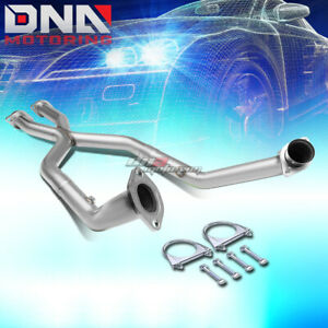 For 99 04 Mustang V8 2 5 Stainless 2 flange Shorty X pipe Exhaust Hp Increase