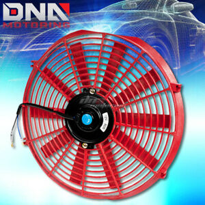 Universal Red 14 High Performance Electric Radiator Cooling Fan Assembly Kit