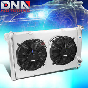 For 73 76 Corvette C3 Mt 3 Row Tri Core Peformance Aluminum Radiator Cooling Fan