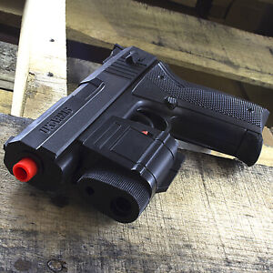 AIRSOFT TACTICAL SPRING PISTOL HAND GUN w LASER amp; FLASHLIGHT w 6mm BBs BB $9.95