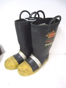 Thorogood Structural Hazmat Steel Toe Firefighter Fire Boots Men 8 5 Wide