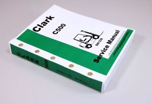 Clark C500 y50 C500 hy50 Forklift Service Repair Shop Manual C500y50 C500hy50