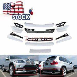 Us Full Aerodynamic Body Kit Bumper Spoiler Lip Front rear Fit Bmw X5 E70 07 10