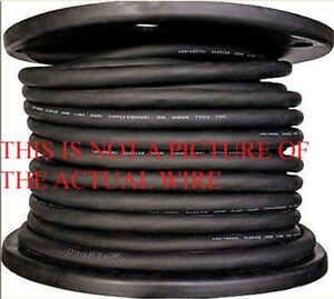 New 100 6 3 Soow So Soo Black Rubber Cord Extension Wire With No Ground Wire