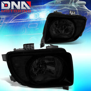 For 03 08 Honda Element Smoked Housing Clear Corner Headlights Lamp Replacement
