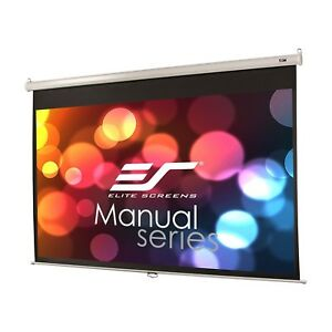 Elite Screens M120xwh2e24 120 16 9 Pull Down Projection Manual Projector Screen