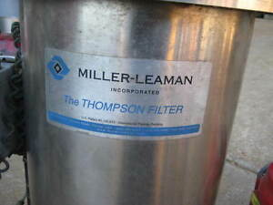 Miller Leaman Thompson Water Filter Stainless Steel With Series 70 Bray Valve