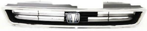 Chrome Grill Assembly For 1996 1997 Honda Accord Grille Ho1200136