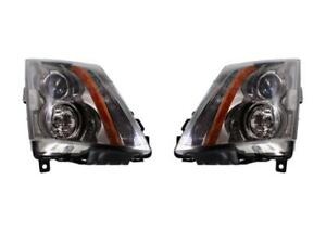 Driver Passenger Headlights For 2008 2014 Cadillac Cts Gm2503309 Gm2502309