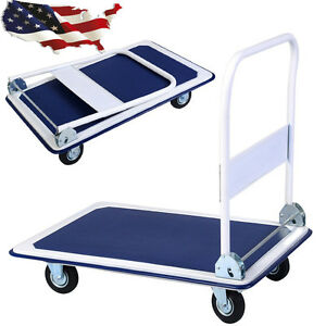 660lbs Durable Folding Platform Cart Dolly Hand Truck Carrying Transport Tool