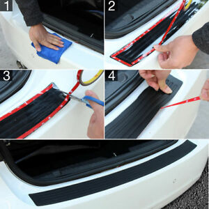 Useful Car Rear Bumper Sill Protector Plate Rubber Cover Guard Pad Moulding Trim