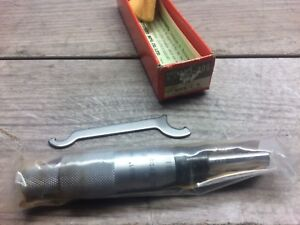 New Mitutoyo 153 0 1 Micrometer Head Carbide Tipped 0001