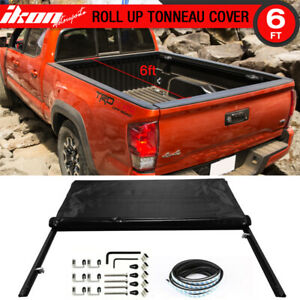 Fits 16 19 Toyota Tacoma 6ft 72 Bed Premium Lock Soft Roll Up Tonneau Cover
