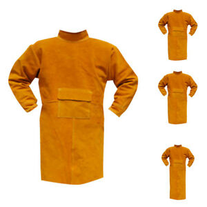 Protective Welding Coat Apron Heat Insulation Fire Resistant Blue orange