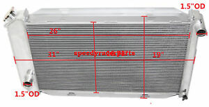 Fits For 71 73 Ford Mustang V8 Mt Aluminum Racing 3 Row Radiator