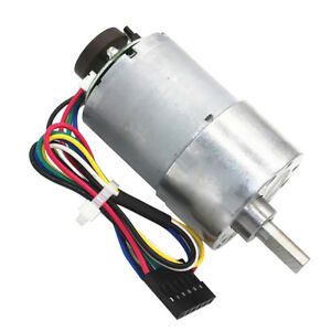 Aluminum Gear Motor With Encoder 24v Dc High Torque Low Noise 11 Types
