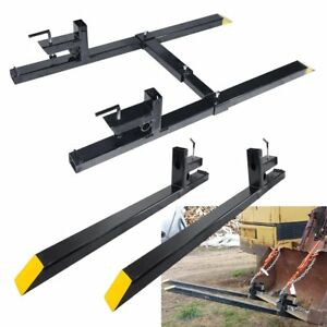 43 60 Clamp On 1500 Lbs Capacity Pallet Forks Loader Bucket Skidsteer Tractor