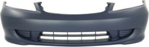 Primed Front Bumper Cover Replacement For 2004 2005 Honda Civic