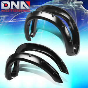 For 07 13 Tundra Textured Black Pocket Riveted Fender Flares 2 Wheel Cover 4pc