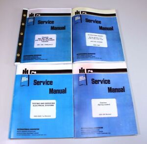 International Ih 666 686 Gas Tractor Engine Service Repair Manual Shop Book Set