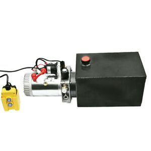 Heavy Duty 12v 8 Quart Hydraulic Pump Power Unit Single Acting 3200 Psi 2 0 Gpm